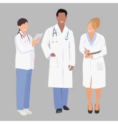 A group of medical professionals vector