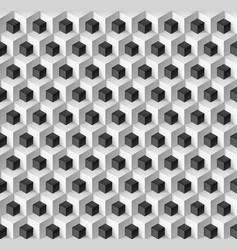 Abstract background with cubes in black and white vector