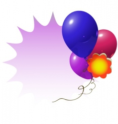 advertisement balloons vector image vector image