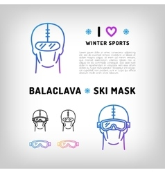 balaclava isolated icon ski mask vector image vector image