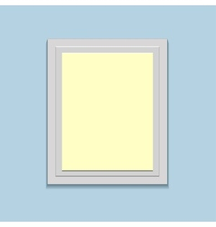 blank retro photo frame over soft background vector image vector image
