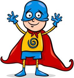 boy in hero costume cartoon vector image vector image