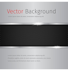 Chrome background with dark pattern vector
