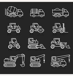 Construction truck icon set vector image