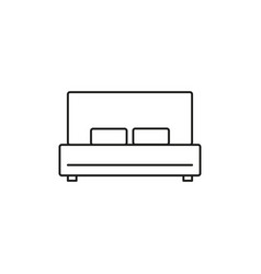 double bed icon vector image vector image