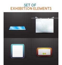 Exhibition design collection vector image vector image