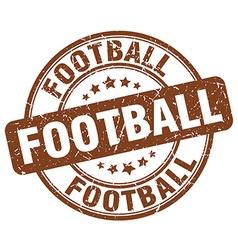 Football brown grunge round vintage rubber stamp vector