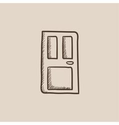 Front door sketch icon vector