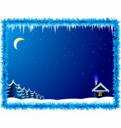 frosty night vector image
