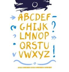 Hand drawn design alphabet vector image