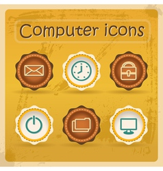 Internet ediction icons vector image