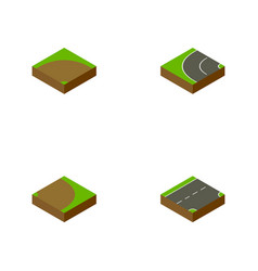 Isometric way set of sand down rotation vector