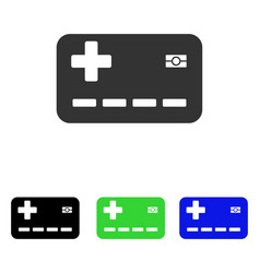 Medical insurance card flat icon vector