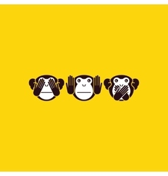 Monkey background vector