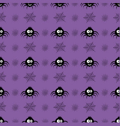 pattern with spider vector image