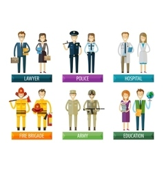 people logo design template police vector image vector image