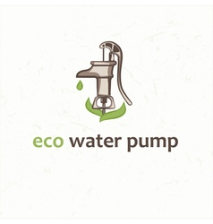 Retro water pump vector