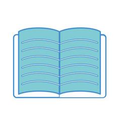 school notebook open to study icon vector image vector image