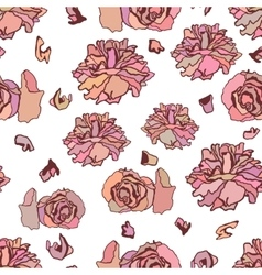 Seamless pattern with dried roses vector image