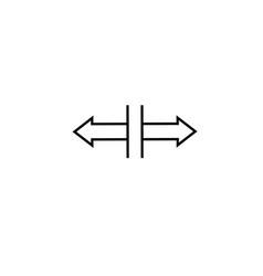 split horizontal icon vector image