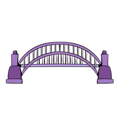 Sydney harbour bridge icon cartoon vector