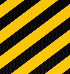 traditional warning stripe vector image vector image