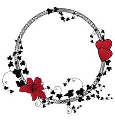 valentine floral frame vector image vector image