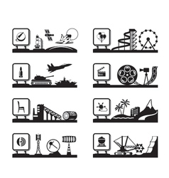Various industries with logos vector image vector image