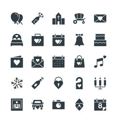 Wedding cool icons 1 vector