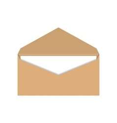Yellow envelope with a letter vector image