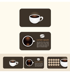 Coffee business cards discount and promotional vector