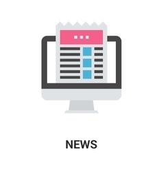 news icon concept vector image