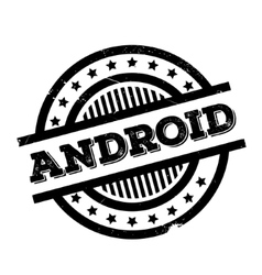 Android rubber stamp vector
