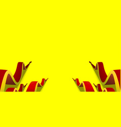 Red arrows going up on yellow background vector