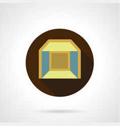 Indoor pavilion flat round icon vector