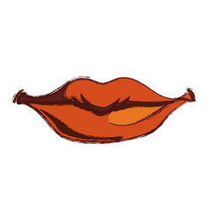 smile lips gesture vector image