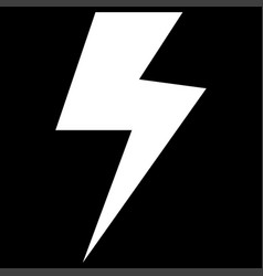 Symbol electricity it is the white color icon vector