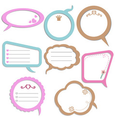Set of colorful speech bubbles set of colorful vector