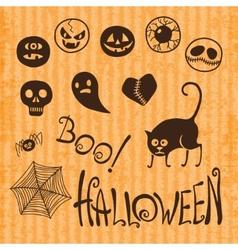 Set Happy Halloween vector image