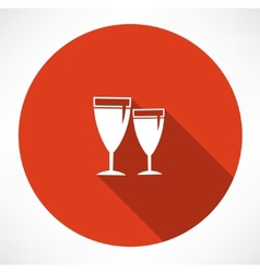 Wineglass icons vector