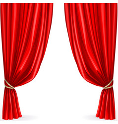 Red curtain isolated on a white background vector