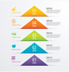 5 triangle timeline infographic options paper vector image vector image