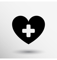 Heart beat rate icon fitness and exercises concept vector