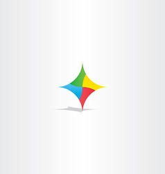 colorful abstract technology logo icon element vector image