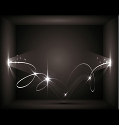 abstract background - the energy flows vector image