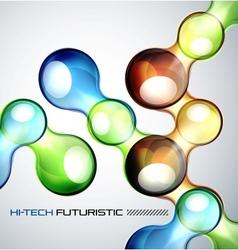 Techno bubble background vector