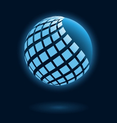 Abstract global icon vector image