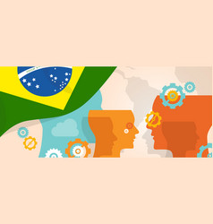 brazil concept of thinking growing innovation vector image