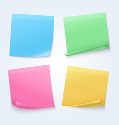 color sheets sticky papers on announcement board vector image vector image