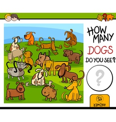 Counting game with cute dogs vector